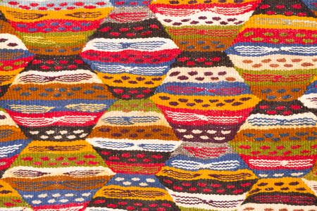 Detail of a Moroccan carpet as background photo