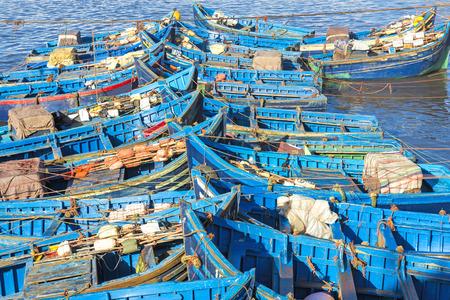 marocco: Fishing boats in Essaouira harbour, Morocco
