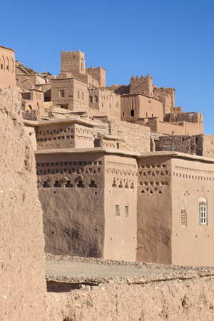 african village: Ancient Ait Benhaddou in Morocco Stock Photo