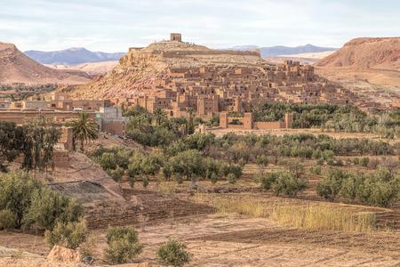 marocco: Ancient Ait Benhaddou in Morocco Stock Photo
