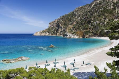 Apella strand op Karpathos eiland, Griekenland Stockfoto - 29576110