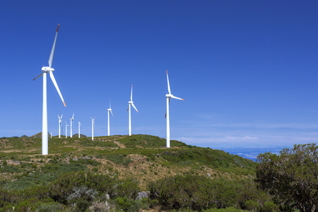 Windpark on the island of Madeira, Portugal photo