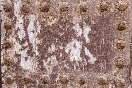 rivets: Grunge wooden surface with rivets