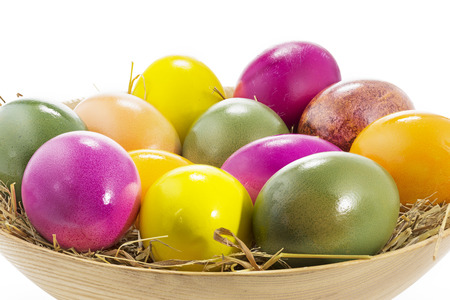 dof: Easter eggs in a wooden bowl, large DOF