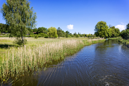 east germany: Scenic canal near Templin City East Germany