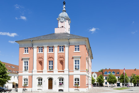 east germany: Historic townhall of Templin, East Germany