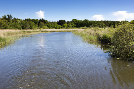 east germany: Scenic canal near Templin city, East Germany Stock Photo