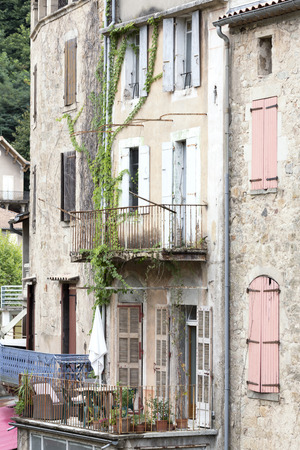 residential home: Facade of a residential home in South France Stock Photo