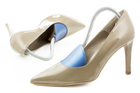 formers: Pair of high heels with shoe formers