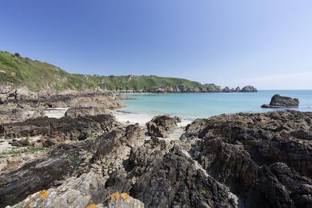 guernsey: South coast of Guernsey island, UK, Europe