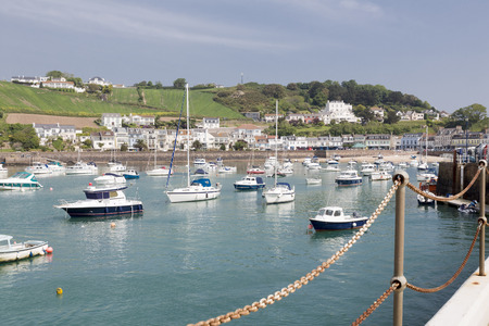 Marina in Gorey town, channel islands