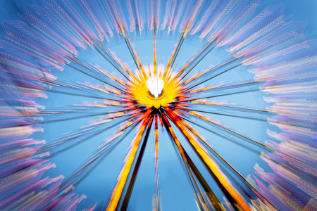 intentional: Big wheel on a fun fare, shot taken with intentional camera movement (ICM) Stock Photo
