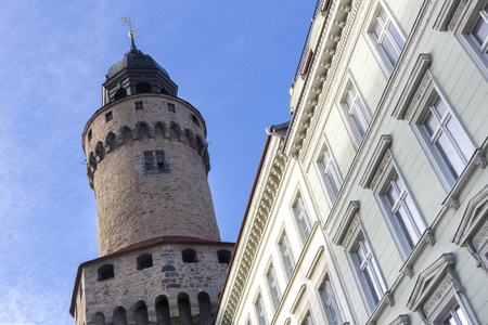 lower lusatia: The Reichenbacher Turm tower in the town of Goerlitz, Germany