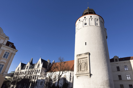 lower lusatia: The Frauenturm tower in the town of Goerlitz, Germany