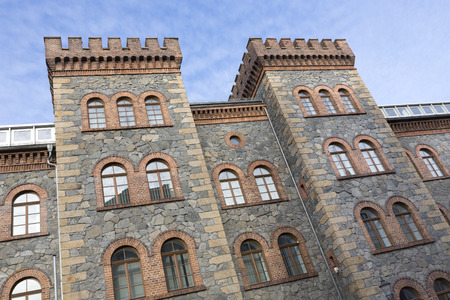 renovated: Historic Jaegerkaserne building in the twon of Goerlitz, Germany Stock Photo