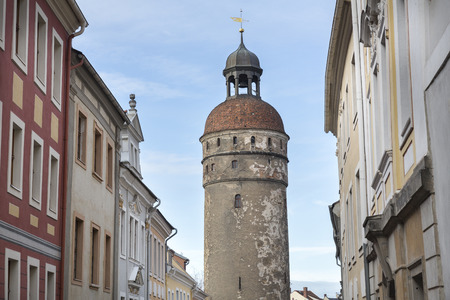 lower lusatia: Historic Nikolaiturm tower in the town of Goerlitz, Germany