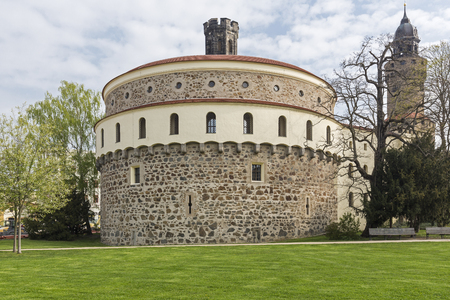 lower lusatia: Kaisertrutz bastion building in the town of Goerlitz, Germany Stock Photo