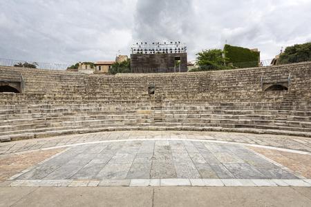 amphitheatre: Roman amphitheatre in Arles, South France Stock Photo