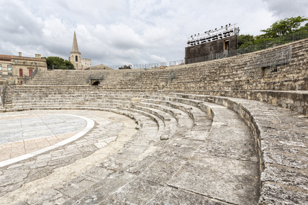 Roman amphitheatre in Arles, South France Stock Photo