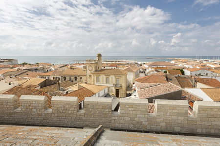 mediteranean: The small town of Saintes-Maries-de-la-Mer in Southern France