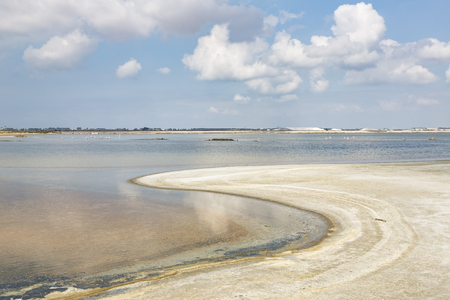 midi: Salt production in the Camargue district, Southern France Stock Photo