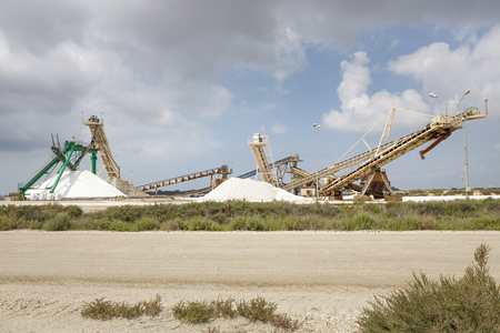 camargue: Producing salt in the Camargue district, Southern France Stock Photo