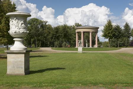 Hebetempel temple inside the castle park of Neustrelitz, Mecklenburg-Western Pomerania, Germany Stock Photo