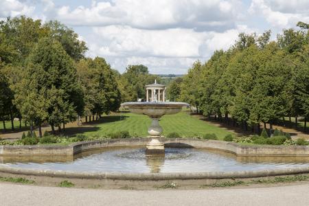 Fountain inside the castle park of Neustrelitz, Germany