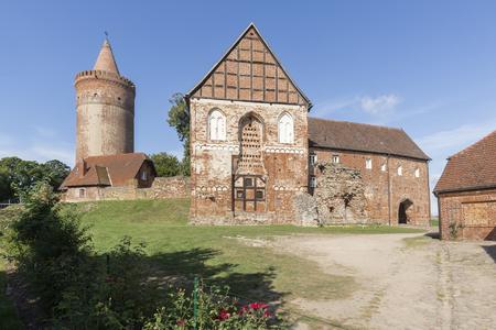 mecklenburg western pomerania: The medieval Stargard castle in Mecklenburg-Western Pomerania, East Germany Stock Photo