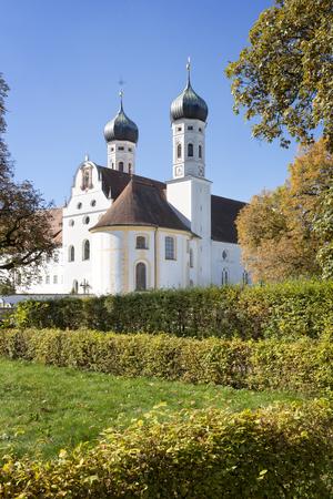 Benediktbeuern monastery in Bavaria, Germany, in autumn Stock Photo