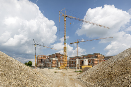 Building site for apartment houses, Germany Stok Fotoğraf