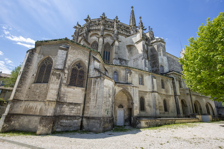 Cathedral of Saint Vincent in the town of Viviers, France Stockfoto