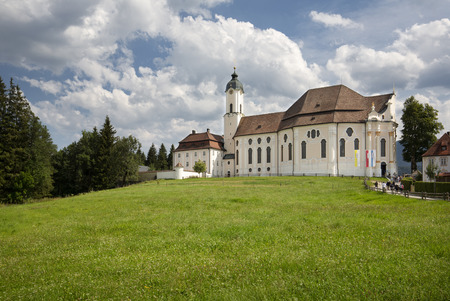 The historic Wieskirche church in Bavaria, Germany Imagens