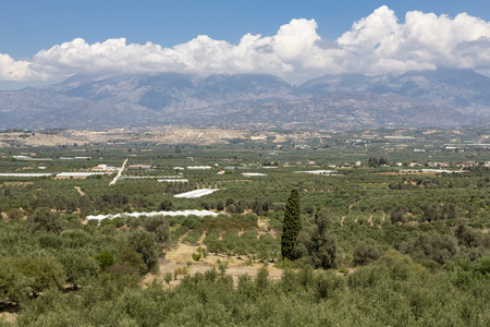 Messara plains in the south of Crete, Greece