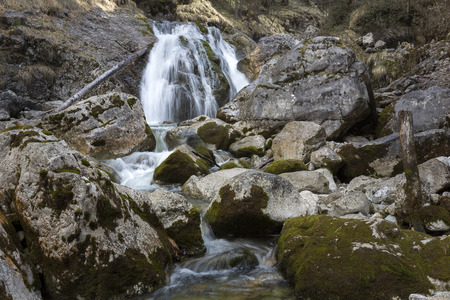 Kuhflucht Waterfalls near Farchant village, Upper Bavaria, Germany