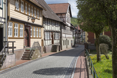 The small town of Stolberg in the Harz area in former East Germany Banque d'images
