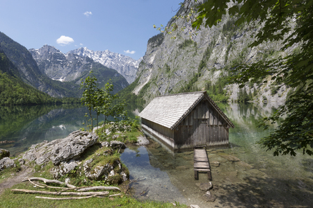 Lake Obersee in Bavaria, Germany, in summer