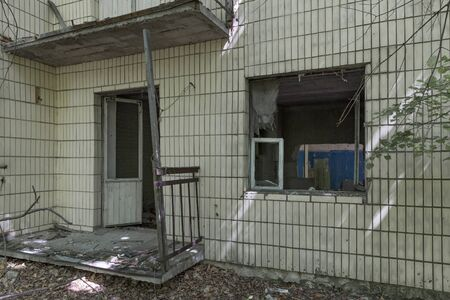 Abandoned home in the exclusion zone of Chernobyl in Belarus (White-Russia)