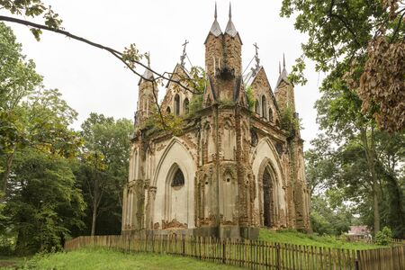 The chapel-tomb Orzeszko in the village Zakozel, Belarus (White-Russia)