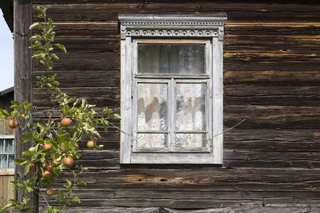 Window of a typical home in the east of Belarus (White-Russia)