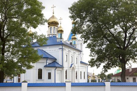 Russian-Orthodox church in the village of Motyl in Belarus, White-Russia