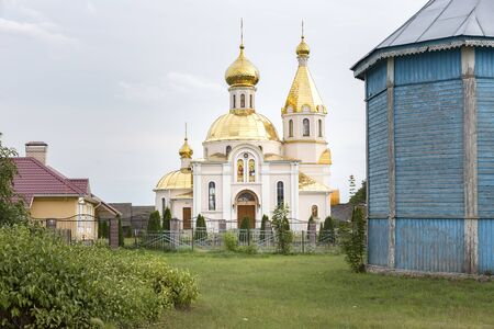 Russian-Orthodox church in Belarus, White-Russia 스톡 콘텐츠