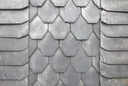 Slate tiles on a typical home in Thuringia, Germany, as background Reklamní fotografie