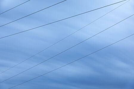 High voltage power line cables, shot with long exposure time
