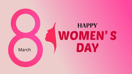 International Womens Day animation, ideal footage for Womens Day Banco de Imagens