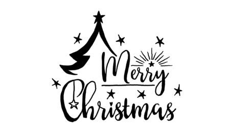 merry christmas logo, designed in chalkboard drawing style, animated footage ideal for the Christmas period