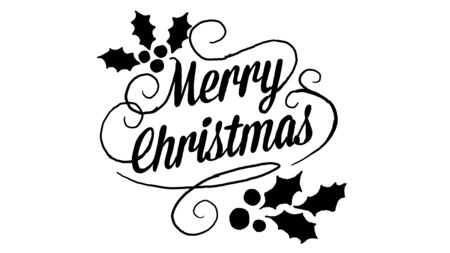 merry christmas , designed in chalkboard drawing style, animated footage ideal for the Christmas period
