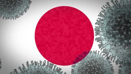 coronavirus infects Japan, an epidemic that explodes uncontrollably Stok Fotoğraf