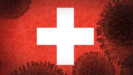 coronavirus infects Switzerland, an epidemic that explodes uncontrollably Stok Fotoğraf