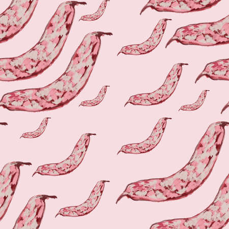 animated Cranberry bean pattern, ideal footage for themes such as cooking and vegeterian recipes Archivio Fotografico